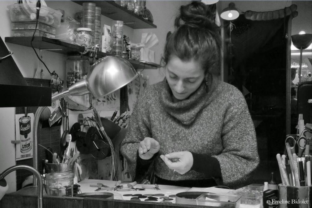 Mathilde VENET à l'atelier