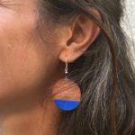 Boucle oreille bois créateur bijou