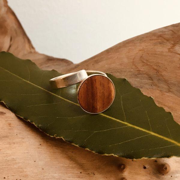 bague bois et argent bois de prunier Rootsabaga bijouterie lyon
