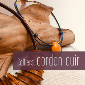 Colliers cordons cuir