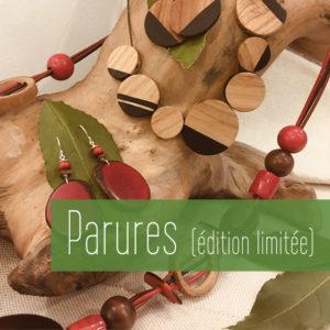 Boucles d'oreilles graines  bois Lyon