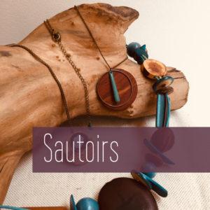 Sautoirs chaine ou graines